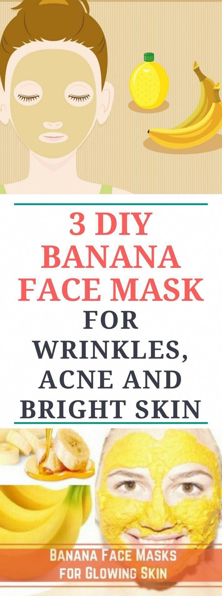 Photo of 3 DIY Banana Face Mask For Wrinkles, Acne and Bright Skin #coconutoilforwrinkles…
