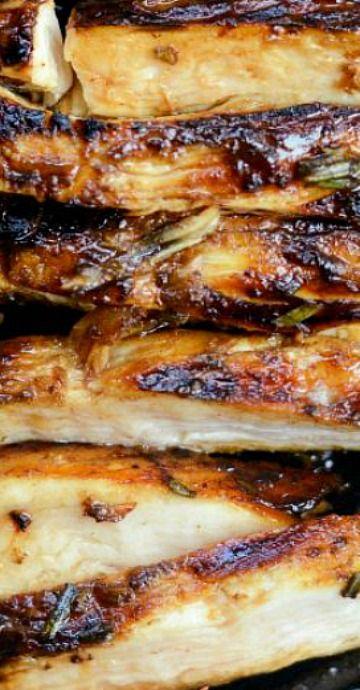 Poulet grillé au romarin et au vinaigre balsamique
