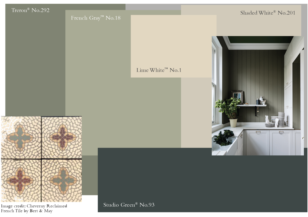 Farrow And Ball Pigeon.Here Is The Mood Board Using Farrow Ball S New Treron