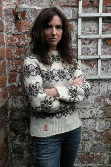 Sarah Lund style organic tradional Faroese pattern jumper | Faroese ...