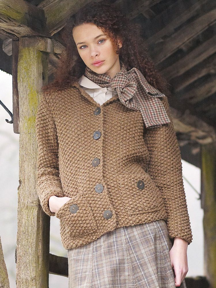 Grasmere Cardigan in Rowan British Sheep Breeds Chunky Undyed | Knit ...