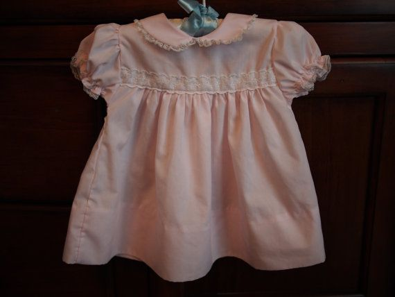 Vintage Sweet Pale Pink Alexis Brand Baby Girls Dress Size 9 months https://www.etsy.com/shop/AmeliaBabble