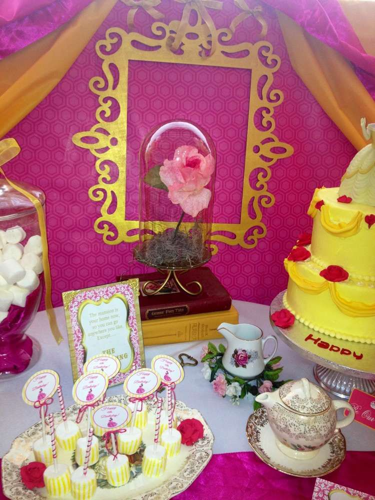 Beauty And The Beast Birthday Party Ideas   Photo 2 Of 31. Baby Shower ...