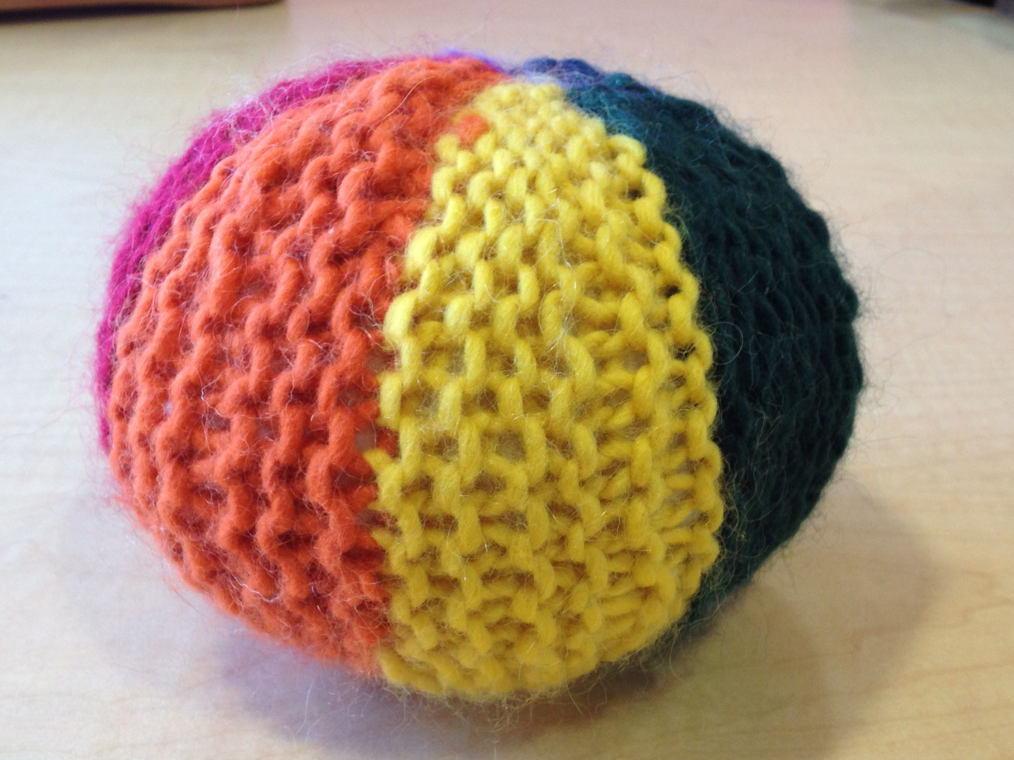 First Grade Knitted Ball 1st project Waldorf School of Garden City ...