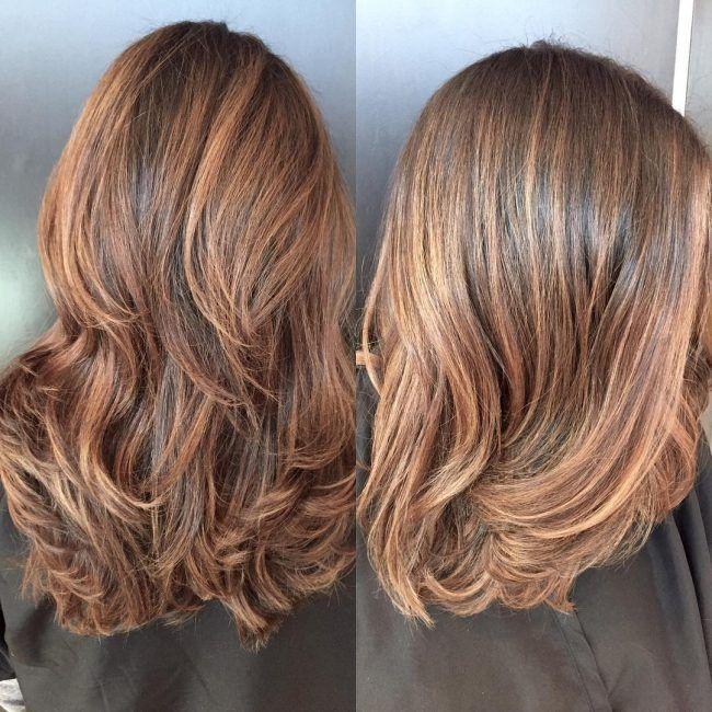 Caramel And Copper Balayage Color Melt Hair Hair Brown Hair