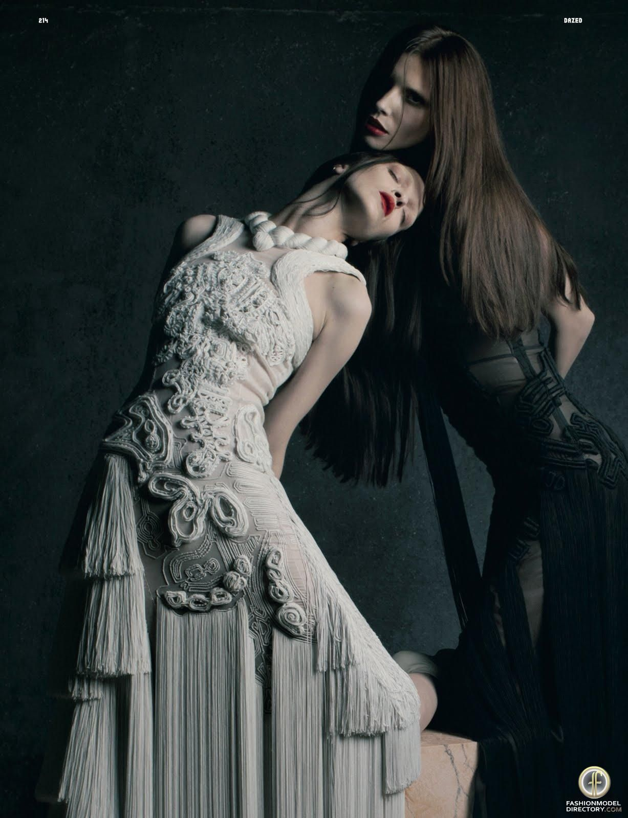 Mariacarla Boscono & Lea Tisci by Matthew Stone for Dazed & Confused