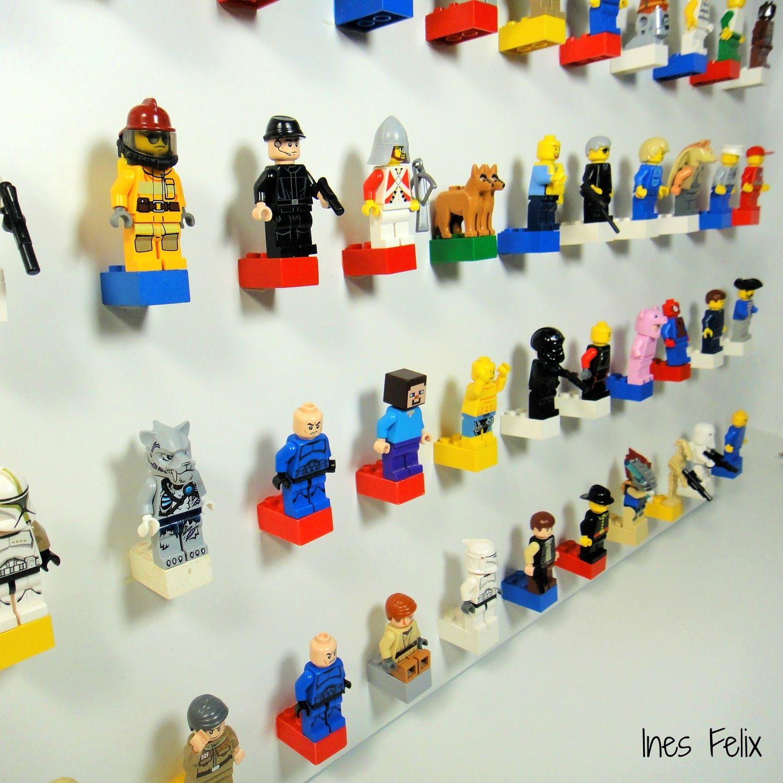 lego-figuren-wand die lego-figuren meines sohnes sind ihm heilig und