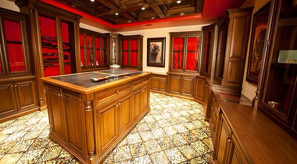 Gun room vault armory home design pinterest guns for Gun vault room