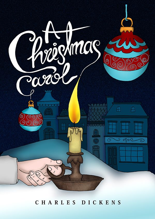 A Christmas Carol Book Cover on Behance | Christmas carol book, Christmas carol, Dickens ...