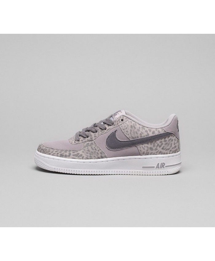 5041c977326 Nike Air Force 1 Chaussures Atmosphère Gris Blanc