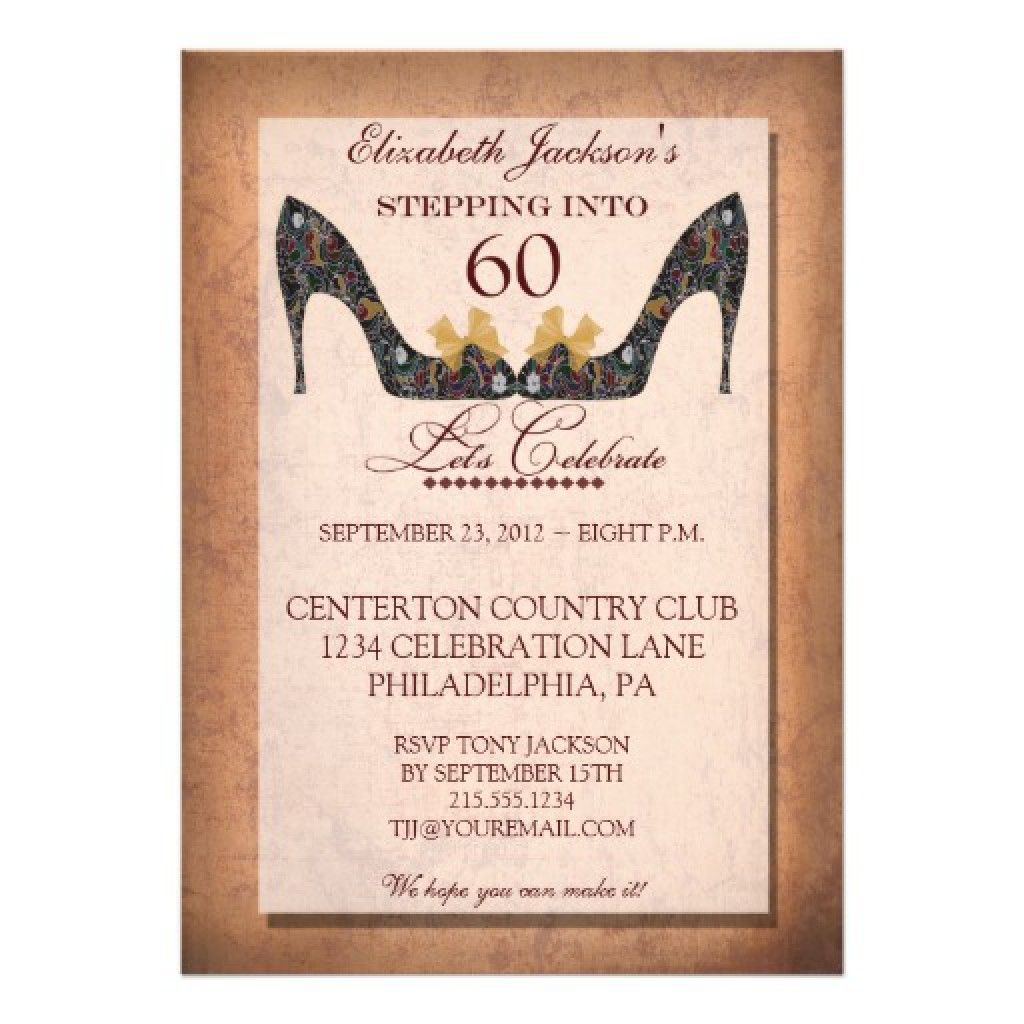 Surprise 60th Birthday Invitation Templates Free  Birthday Invitation Designs Free