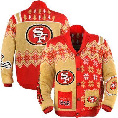 San Francisco 49ers Ugly Sweater Cardigan | San francisco 49ers