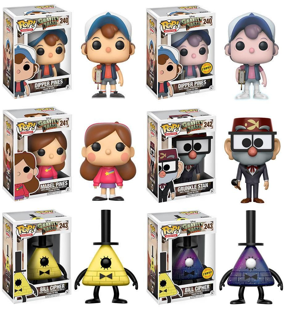 Funko Pop Animation Disney S Gravity Falls Complete Set