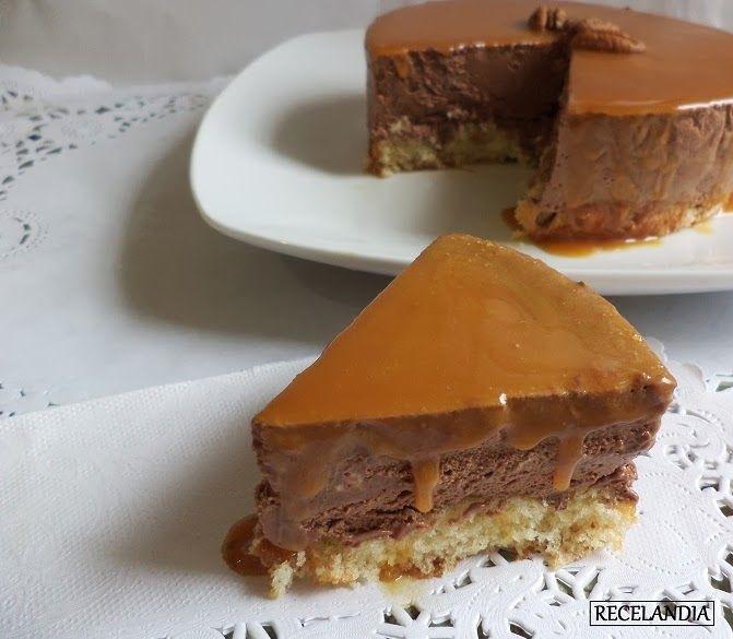 Recelandia Tarta Mousse De Chocolate Con Base De Nuez Y Salsa De