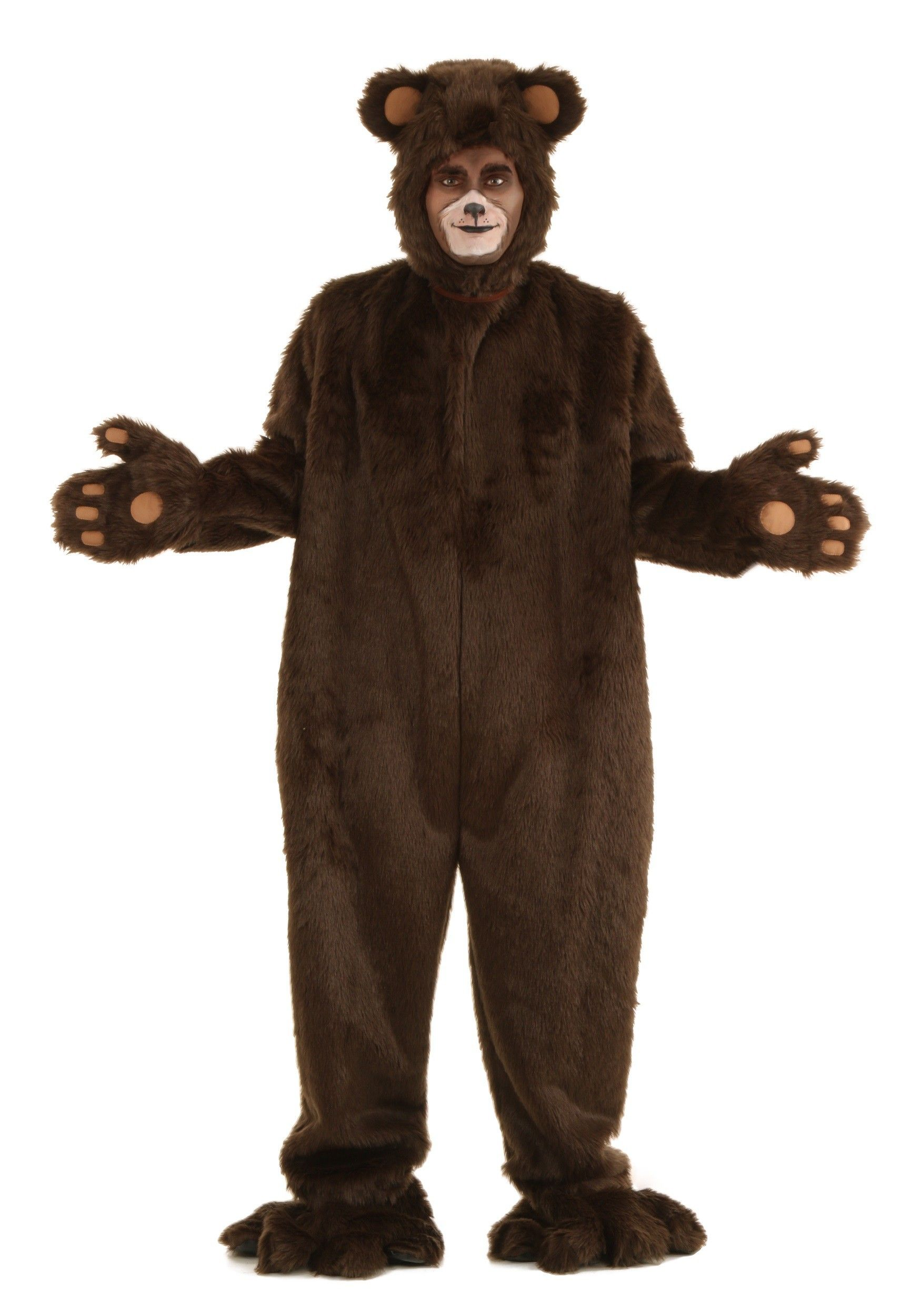 Adult Deluxe Furry Brown Bear Costume | Bear costume and Costumes