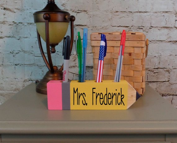 Personalized Pencil Pen Holder Personalized Teacher Pencil