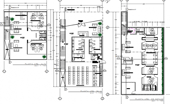 Floor plan layout details of government office building