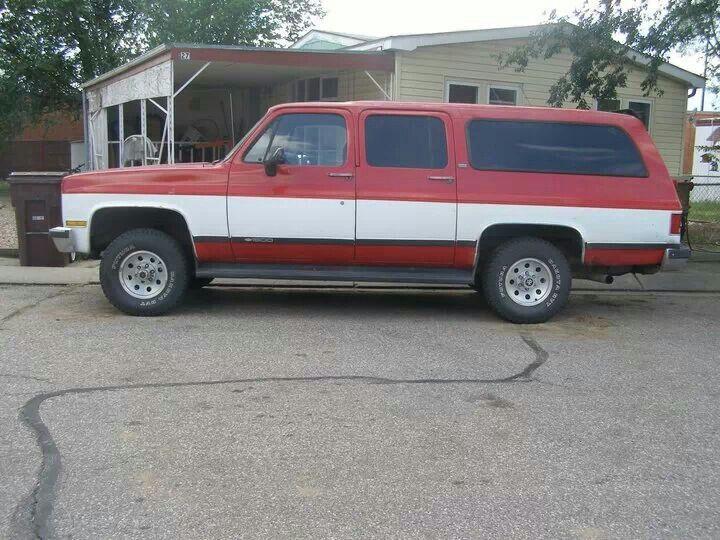 90 Suburban 4x4 Chevy Suburban Chevrolet Suburban Big Trucks