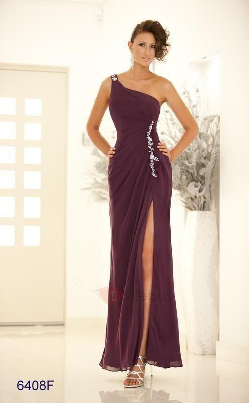 83deaa1ad Glamoroso Vestido de Prom Noche Silueta Línea A Largo al Piso un Hombro