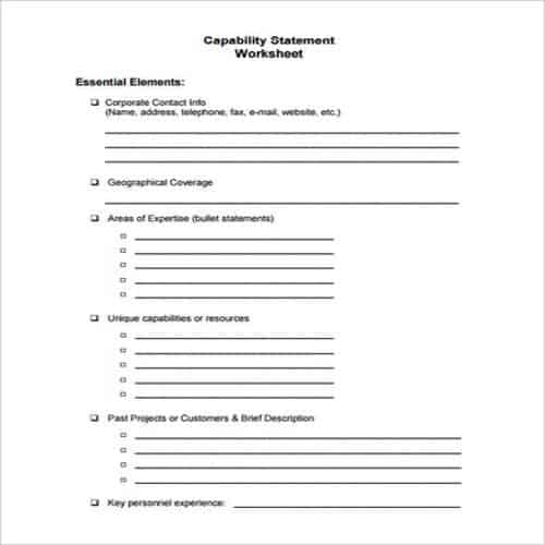 50+ Compelling Capability Statement Templates - Besty ...