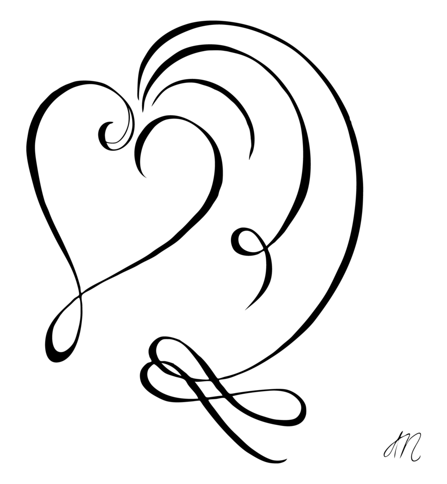 Behind The Ear Con Imagenes Corazones Manualidades Arte