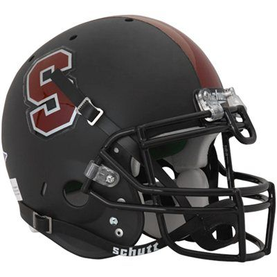 Schutt Stanford Cardinal Full Size Authentic Football Helmet Black Football Helmets Football Stanford Cardinal