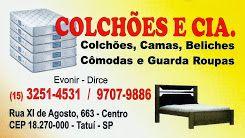 COLCHÕES E CIA Colchões, Camas, Beliches, Cômodas e Guarda-Roupas