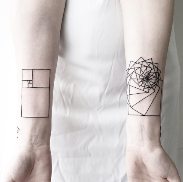 359f0aaf7 For Minimalists: Striking Geometric Tattoos Made With Sharp Edges And Fine  Lines - DesignTAXI.com