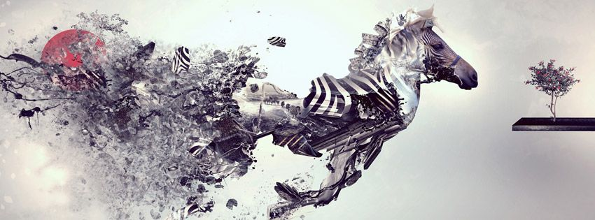 Doctor Who Abstract Facebook Cover