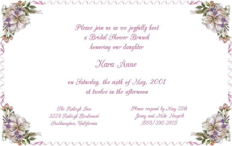 17 Best images about wedding shower invitations – Examples of Wedding Shower Invitations