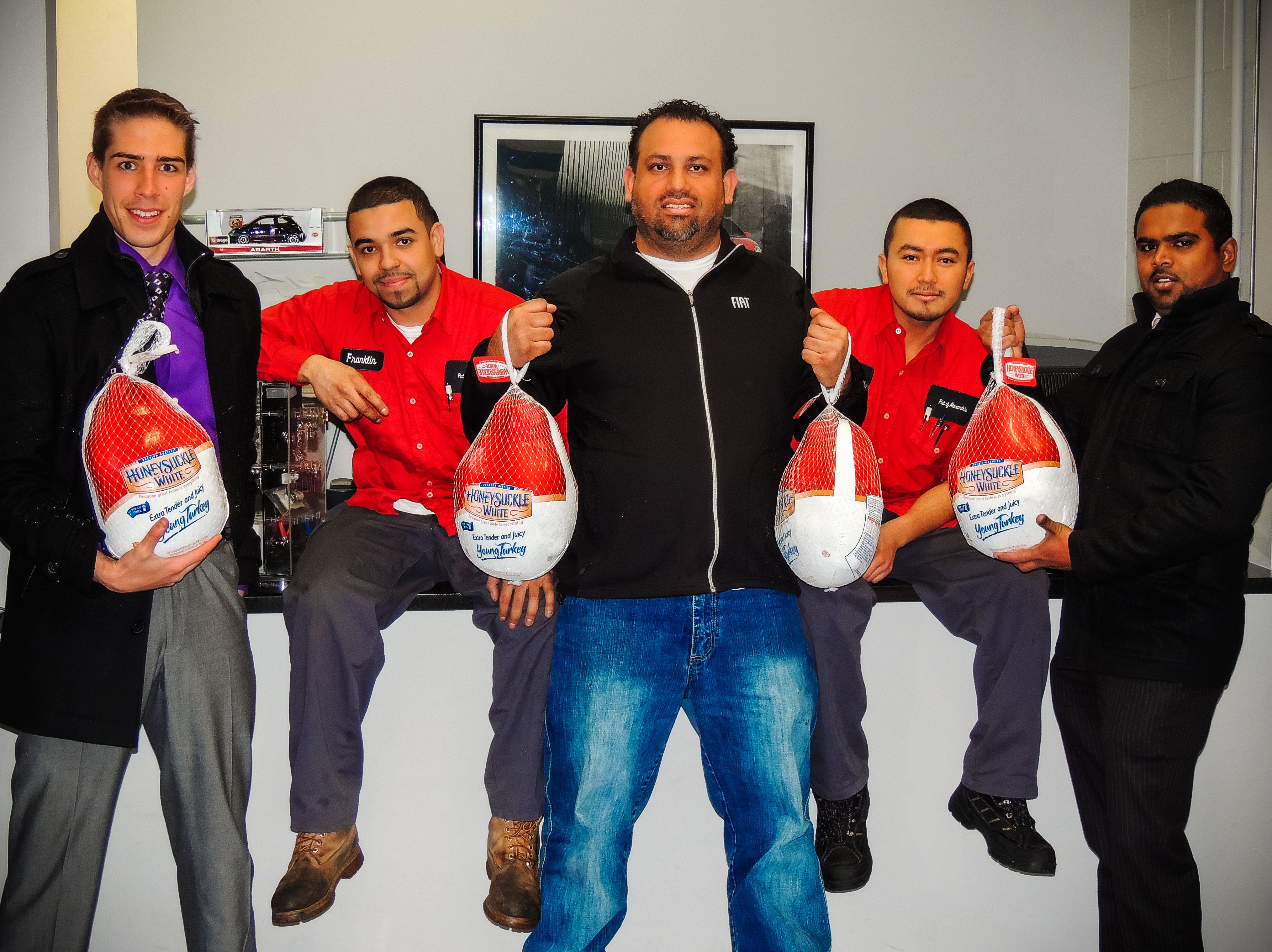 tweets4turkeys was an event put on by rosenthal automotive our charitable company that decided