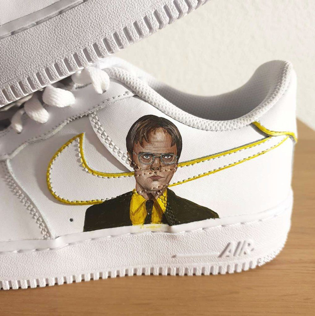 Dwight Schrute AF1   Painted shoes