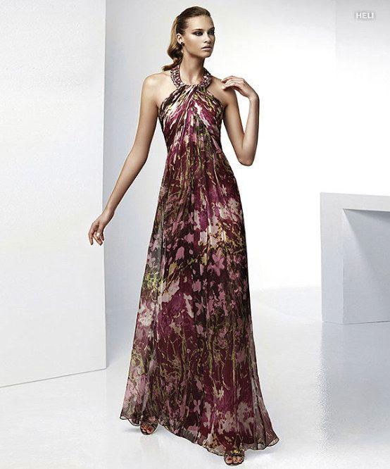 Vestido longo para casamento da moda
