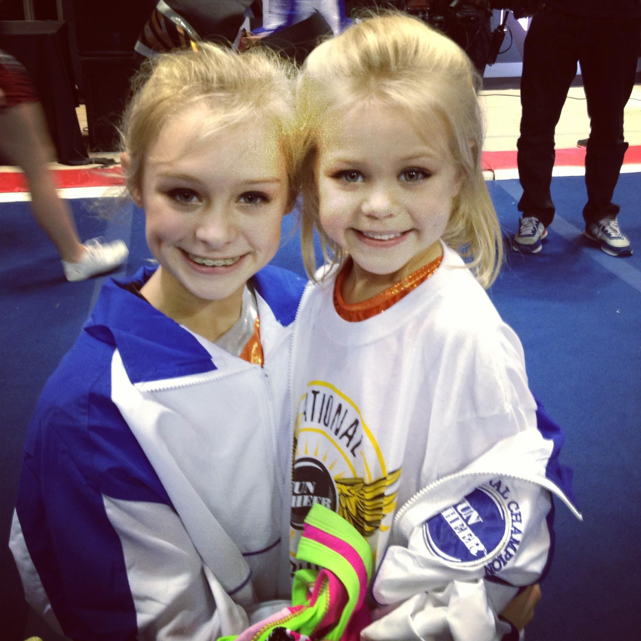 Cambree and Cassidee Texas Cheer Competition. Cheer Perfection   (Cassadee Dunlap's photo not mine)