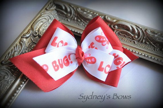 Valentines Day Boutique Hair Bow Hair Clip by SydneysBows on Etsy, $3.99