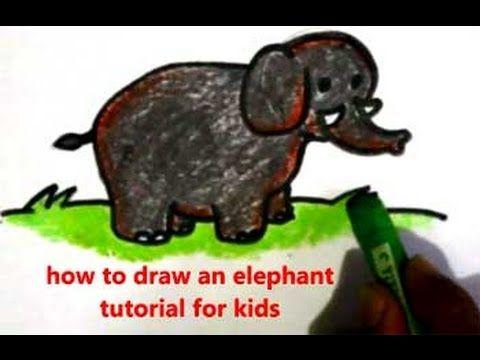 Cara Menggambar Gajah Elephant Drawing Elephant Drawings