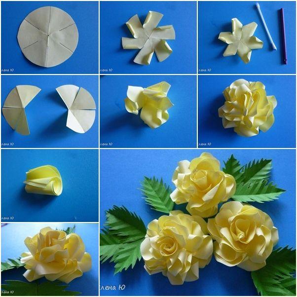 Diy simple paper rose tutorials flower tutorial and facebook diy simple paper rose mightylinksfo