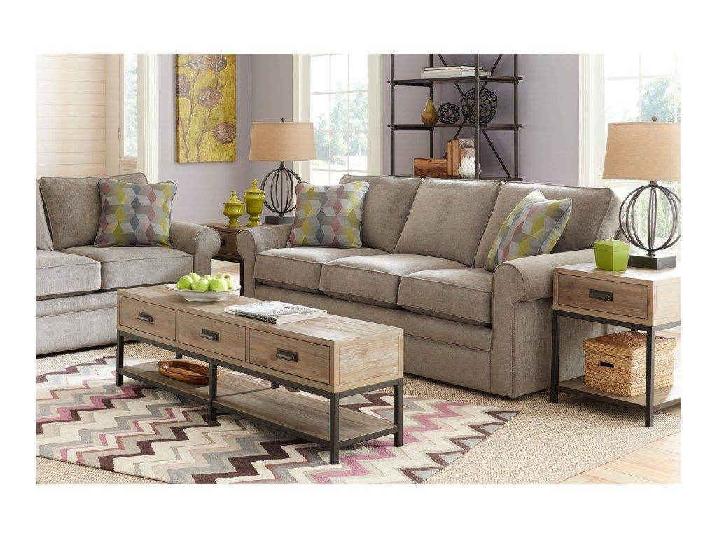 La Z Boy Collins Sofa With Rolled Arms Knight Furniture