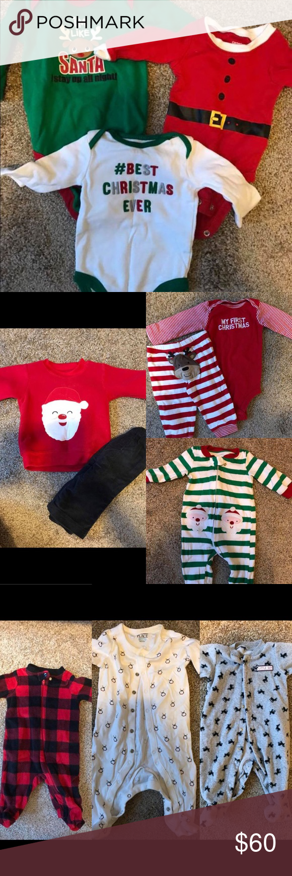 8e23432232ff4 NB and 0-3 month Christmas Lot NWT Mudpie my first Xmas onesie. set