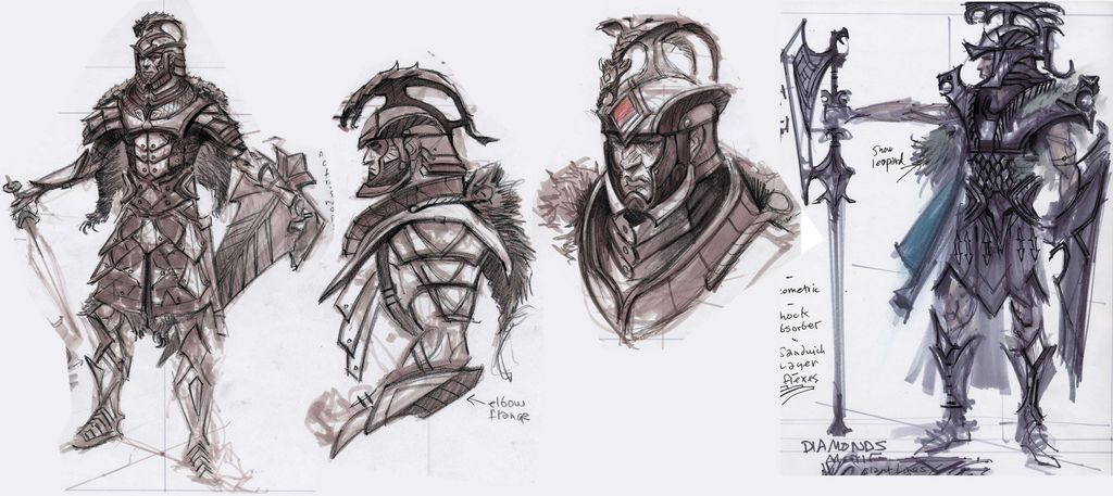 Skyrim Character Design Ideas : Skyrim concept art like the shapes on that last one