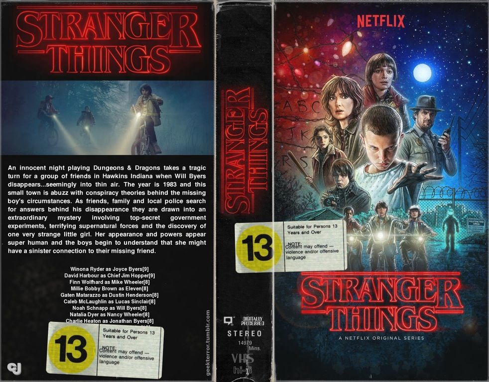 I Made A Stranger Things Vhs Cover R Strangerthings Stranger Things Stranger Cover