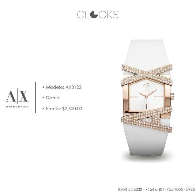 Reloj #ArmaniExchange para dama a sólo $2,600 #SoloEnClocks  http://instagram.com/clocksrelojes https://www.facebook.com/clocksrelojes https://twitter.com/ClocksRelojes