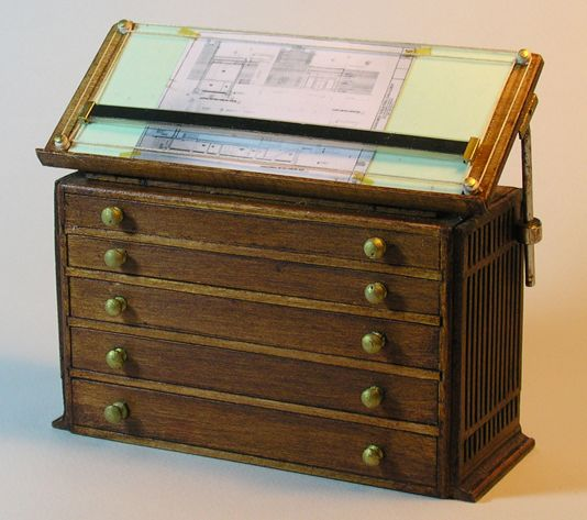 Superior Want This In Full Size Miniature Slant Top Architectural Drafting Table And  File Drawers