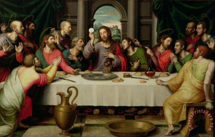 Vicente Juan Macip The Last Supper Art Print For Sale