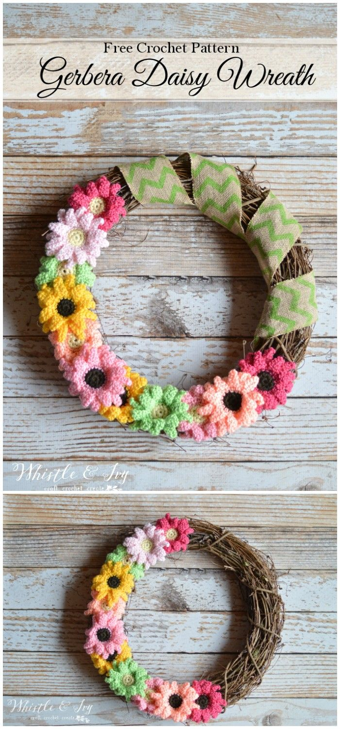 Easy Free Crochet Home Decor Patterns | Free crochet, Wreaths and ...