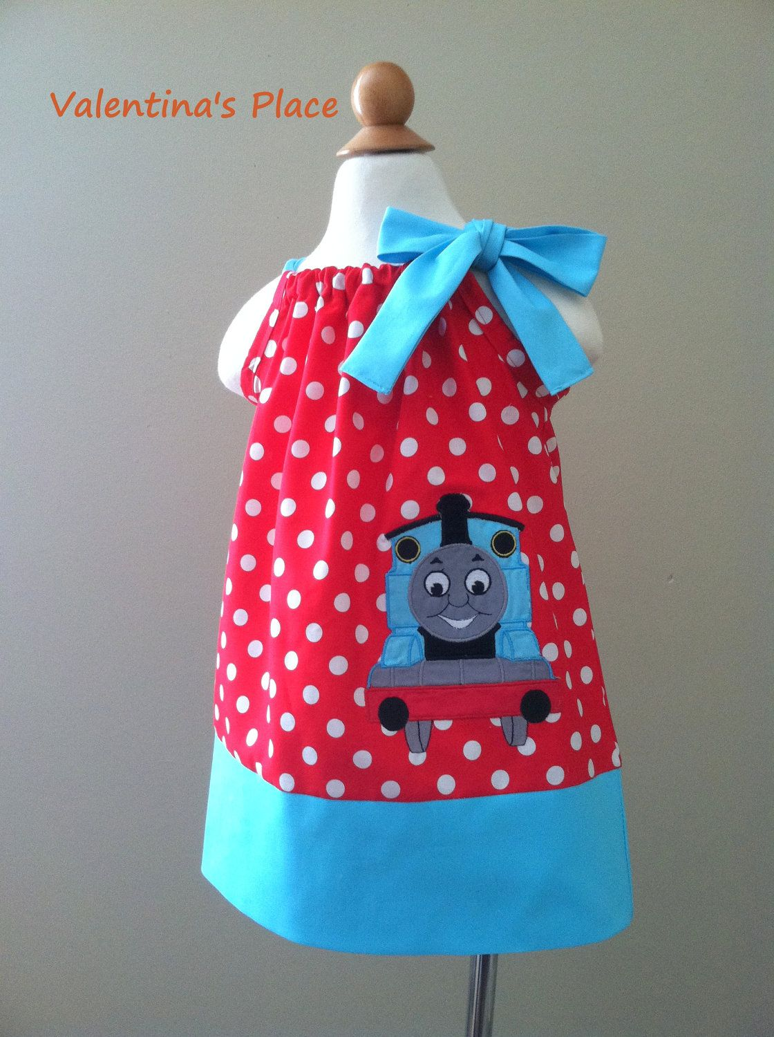 Thomas The Train Pillowcase Mesmerizing Thomas The Train Pillowcase Style Dress For Girls  Birthdays Review