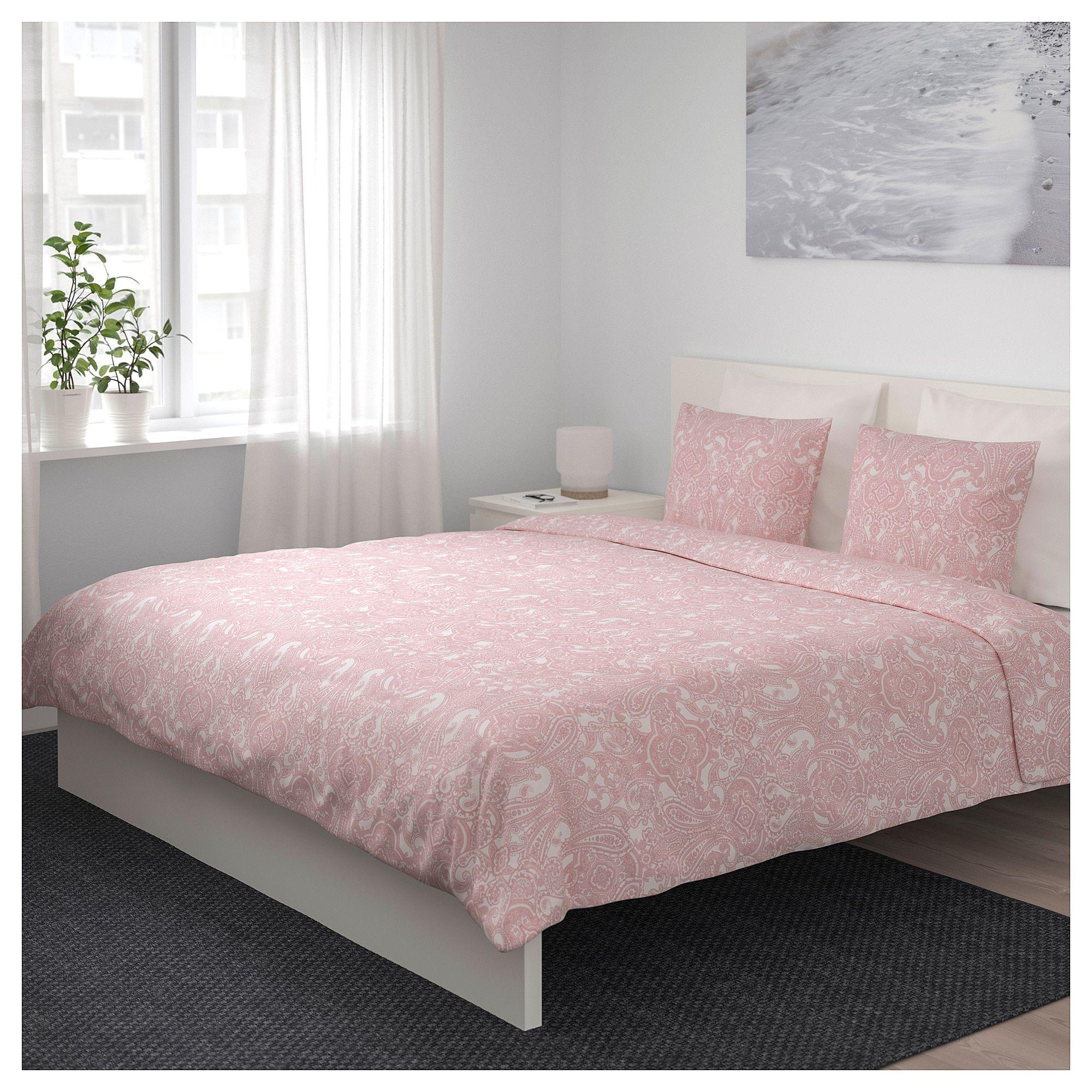 Ikea Jattevallmo Duvet Cover And Pillowcase S White Pink