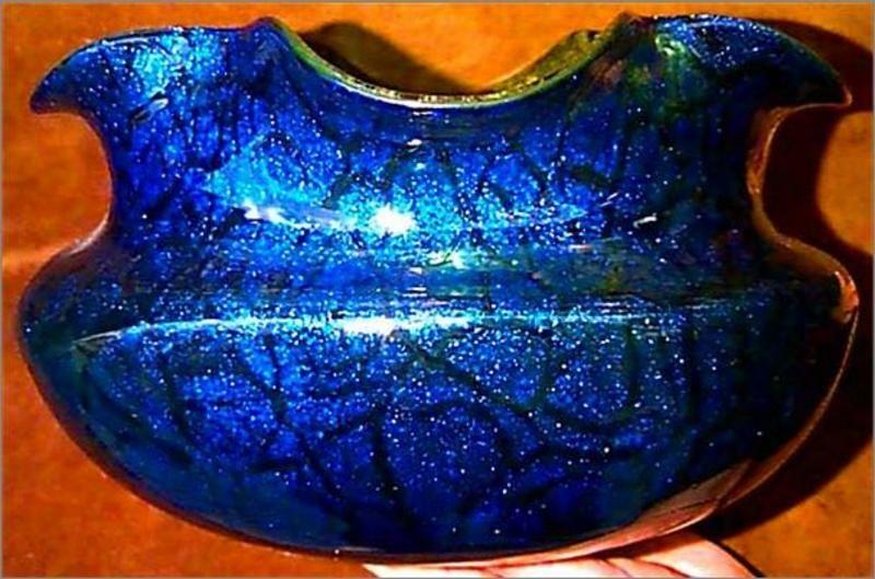 HUGE Art Nouveau Loetz PAPERWEIGHT Vase (item #105871, detailed views)
