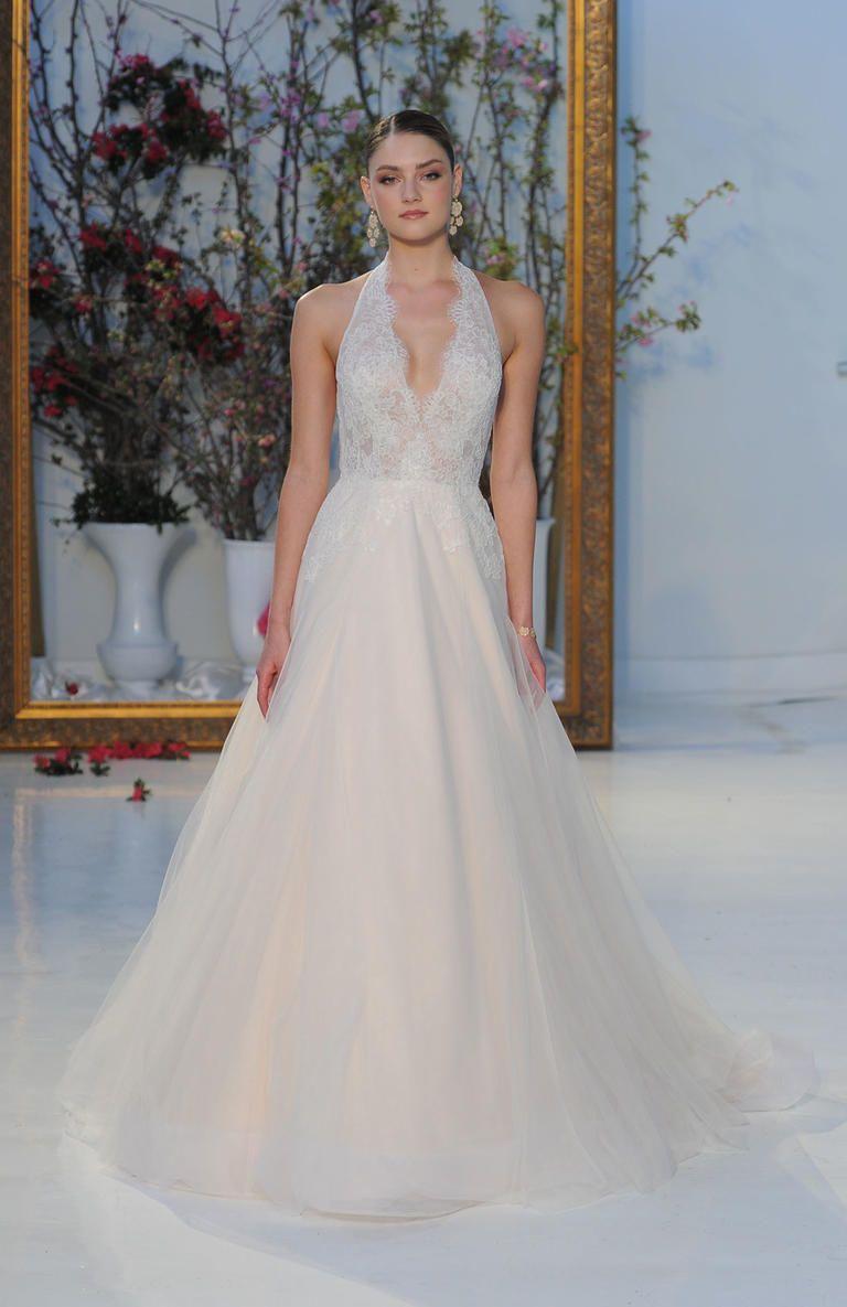 Anne Barge Spring 2017 >Halter Neck Wedding Dress | I take you #weddingdress #bridalgown