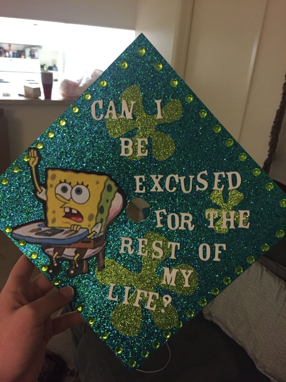 Grand Spongebob Graduation Cap Spongebob Graduation Cap Nursing Pinterest Ny Graduation Caps 2017 Ny Graduation Caps Spongebob